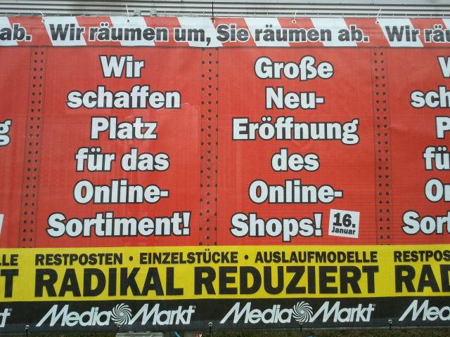 Media Markt: Platz für den Online-Shop